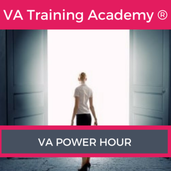 "Have you ever wished you could have an hour with a multi-award winning VA Trainer, where the focus is purely on you and your business. Well, I am often asked ""Can I just ask you a quick question about…"" or ""Would it be possible to pick your brain?"" So I have introduced a fantastic ""VA Power Hour"""