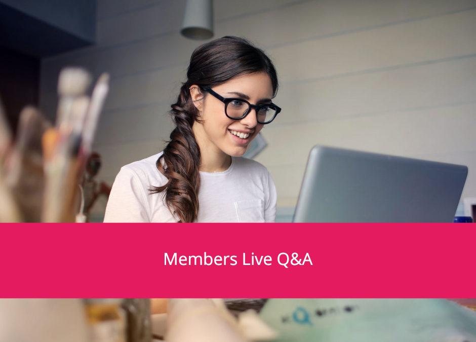 Live Q & A Recording – 18 Jun 20
