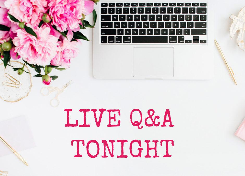 Live Q&A Recording – 16 Jul 20